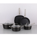Best selling workable price forged aluminum cookware set