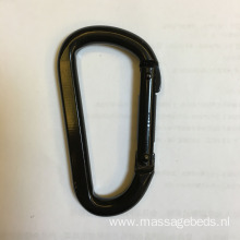 Black Coated D Shape Climbing Carabiner 1500KGS