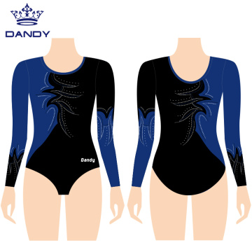 Mystique mei lange mouwen comp gymnastykleotards