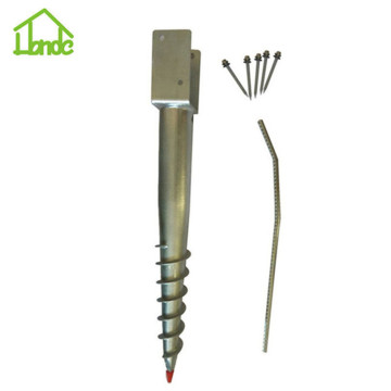Hot dip galvanized ground pole screw anchor