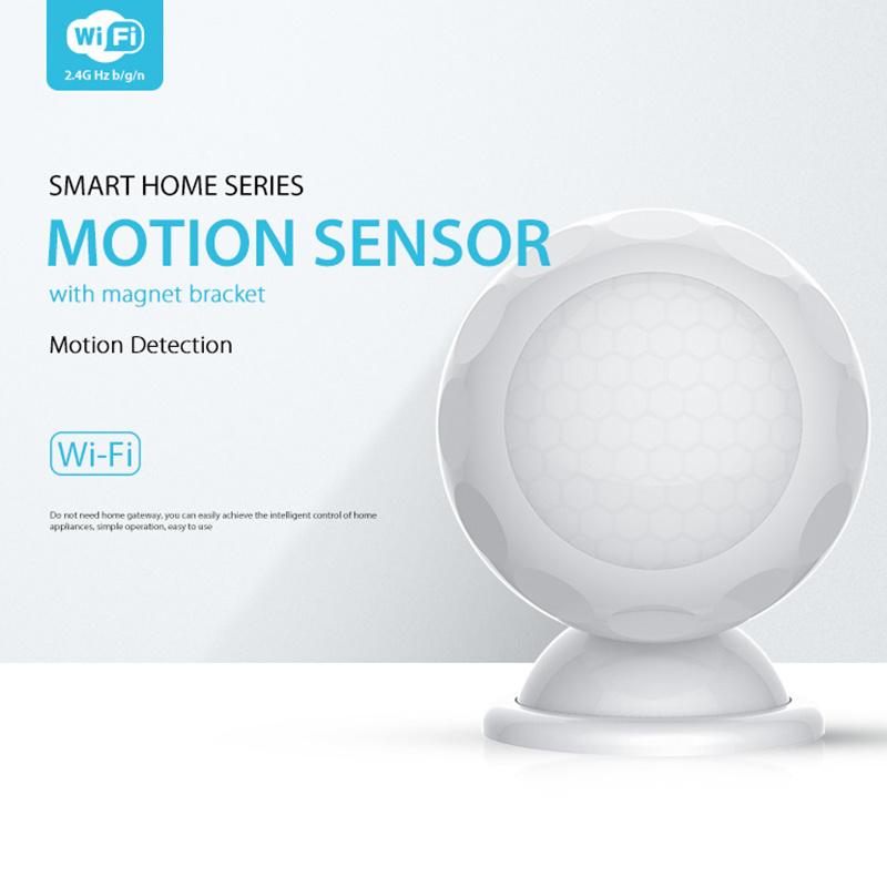 NAS-PD02W WIFI PIR Motion Sensor Detector Tuya Smart Life App Smart Home Automation Alarm System with Bracket