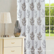 Morden Leave Design Jacquard Curtain