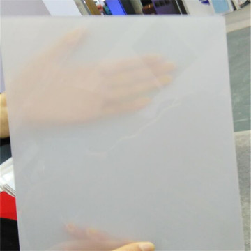 Frosted solid door clear polycarbonate panel
