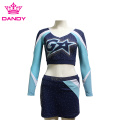 Navy blue spandex cheer outfits