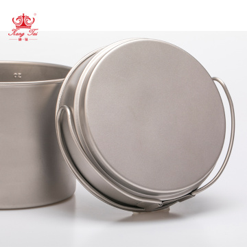 Pure titanium outdoor soup pot cover