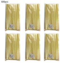 600Pcs Biodegradable Wheat Drinking Straws Non-Soggy Flavorless BPA-Free Compostable Straws for Hot or Cold Drinks Dropship
