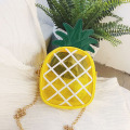 Small Transparent Jelly Bags for Women 2020 Package Crossbody Bag Fresh Pineapple Shape Chain Messenger Shoulder Bag Female