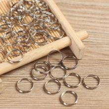 50Pcs Hot EDC Stainless Steel Keychain Ring Hooks 8/10/12mm Keyring Circle Loop Luggage Tag Screw Lock DIY Pendant Camping Tools