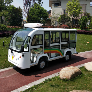 elegant 8 seats electric open sightseeing shuttle bus