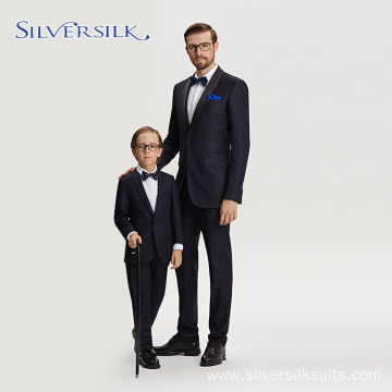 Elegant jacket and pants father son tuxedo suits
