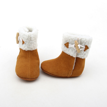 Brown Winter Warm Baby Booties
