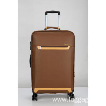 PU contrast zipper Luggage