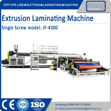 2 sisi PE PP extrusion laminating machine