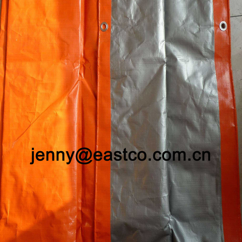 UV Orange Silver Tarpaulin Outdoor Covers
