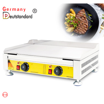 Flat electric griddle stainless steel machine