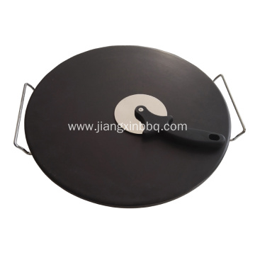 16 Inch Glazed Cordierite Pizza Stone Set