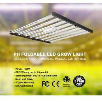 Phlizon Foldable Grow Light 600W