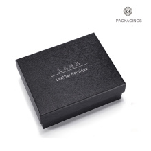 Luxury custom hand made black belt box