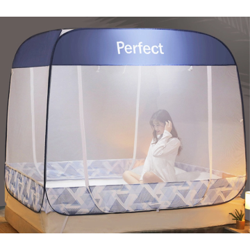 Rectangular pop-up tent in the living room
