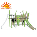 Green Commercial Outdoor Playground Equipment For Sale