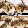 Sheller Multipurpose Heavy Duty Nut Tongs Aluminium Alloy With Handle Manual Nutcracker Portable Adjustable Size Macadamia