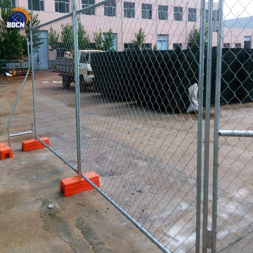 removable galvanized temporary fence