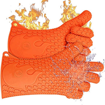 Heat Resistant Grill Gloves Silicone Oven Mitts
