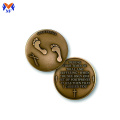 Classic metal pocket prayer coins