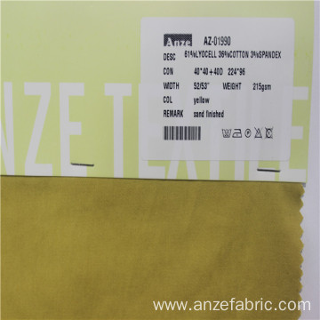 61%lyocell36%cotton3%spandex stretch sateen fabric