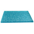 Embossed clear solid polycarbonate sheet