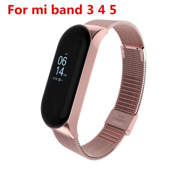 Mi Band 3 4 5 Strap Metal for Xiaomi Mi Band 5 4 3 Bracelet Screwless Xiaomi Mi Band 4 Bracelet Correa Xiomi MiBand 3 Wrist Band