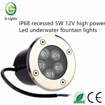 Factory price recessed 5W led inground uplight