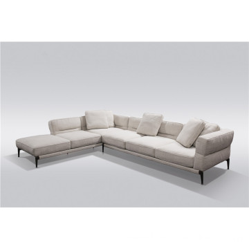 Designer sofa with chaise