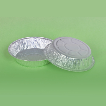 Disposable Aluminum Plain Foil Pan Round