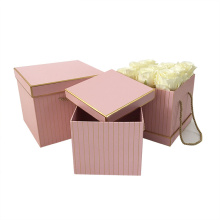 Large Square Shape Wedding Flower Box with Lid