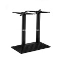 Double kitchen dining bar height rectangular table base