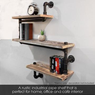 Modern Ladder Pipe Wall Bookshelf Bracket