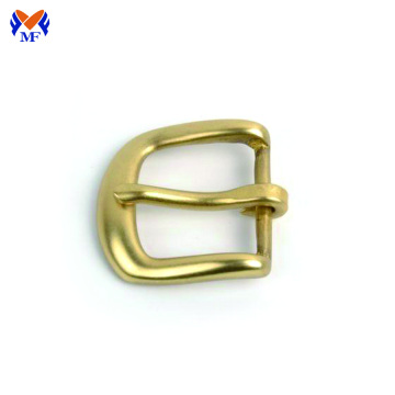 Solid brass shoe pin belt buckle