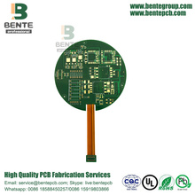 4 Layers Rigid-Flex board ENIG Applications Industry Green