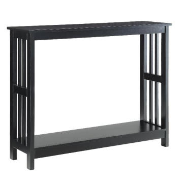 Elegant Couch Narrow Black Console Table