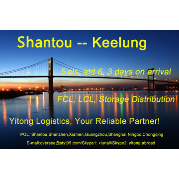Shantou Sea Freight to Keelung