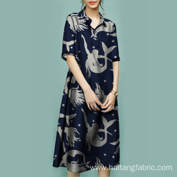 Skirt Fabric Digital Textile Printing Richly Woven Fabric