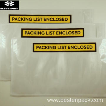Packing List Envelope 5.5x10 inch Half Printed Yellow