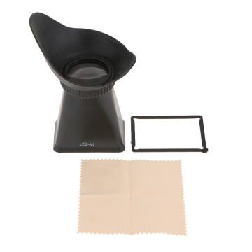 2.8X 3.0'' LCD Screen Viewfinder Magnifier V2 For Canon 550D 5DIII 6D DSLR/ Nikon D90 /Panasonic GH1 GH2 Camera Black