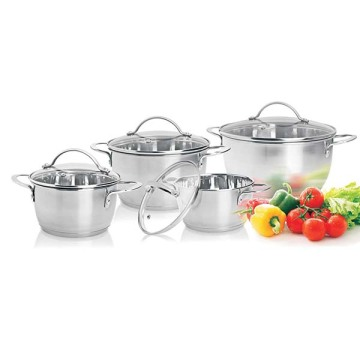 8pcs conical shape cookware set KOREA