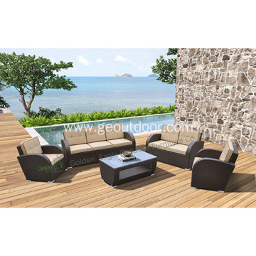 5pcs Elegant Outdoor Wicker Patio Garden Sofa Furnitures