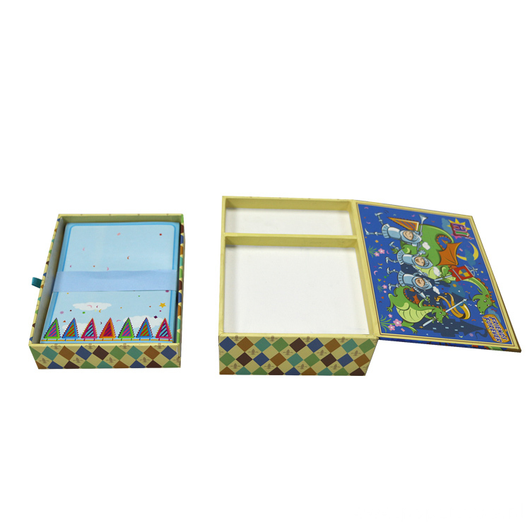 CMYK Printing Colorful Nootbook Cardboard Box with Drawer