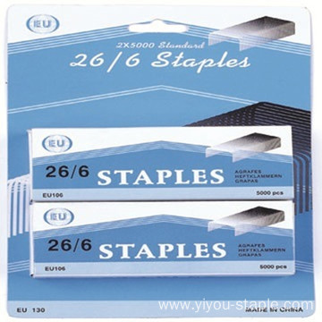 Metal Silver Stainless Steel 26/6 Blister Packing Staples
