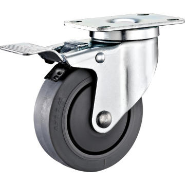 100mm Total Lock Trolley TPR Caster