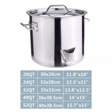 40Quart Stainless Steel Stock Pot with Lid